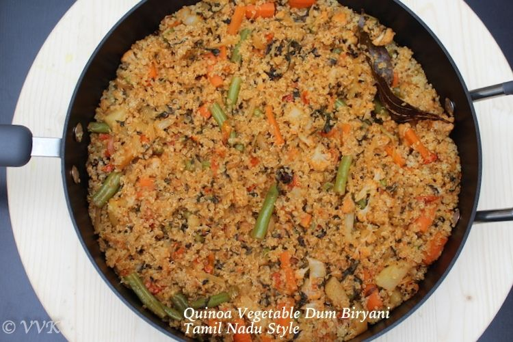 Quinoa vegetable dum biryani tamil nadu style recipe biryani quinoa vegetable dum biryani tamil nadu style recipe biryani quinoa and rice forumfinder Image collections
