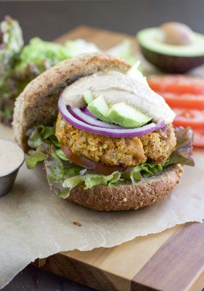 Clinton Kelly's Fabulous Sweet Potato Burgers - Stacey Homemaker