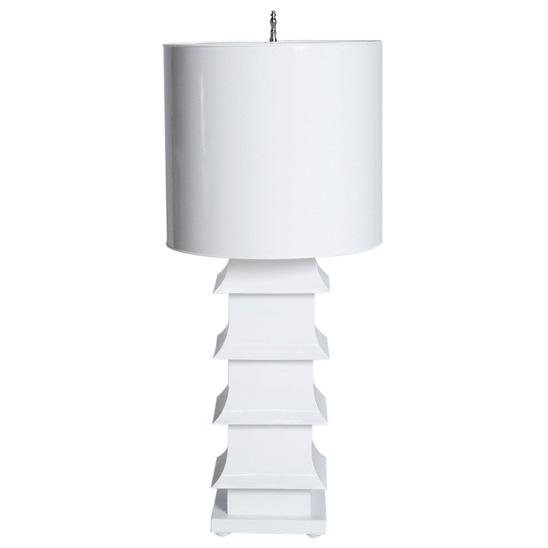 Worlds Away Pagoda White Table Lamp from Layla Grayce laylagrayce