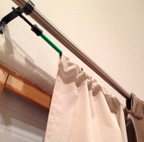 The Usage Of Bungee Cords Around The House Solved All Of His Wife S Problems With Images Curtain Decor Home Diy Diy Curtains
