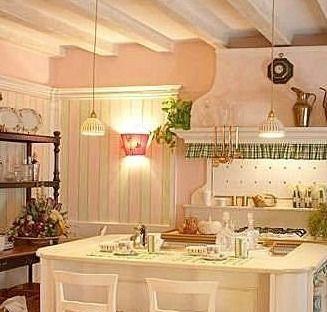 Illuminazione cucina provenzale tende lampadari e - Comedores estilo vintage ...
