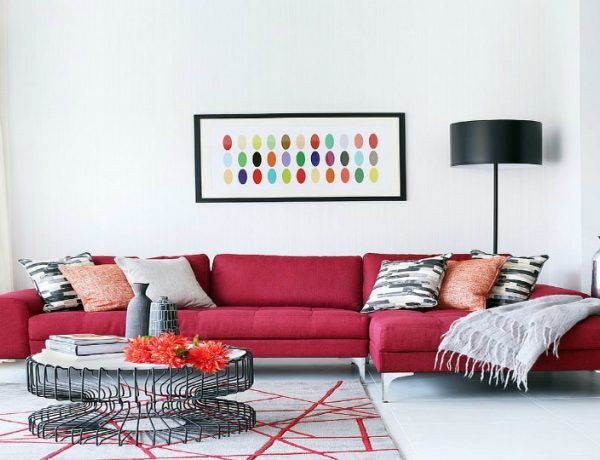 Elegant Decorating with Red Furniture