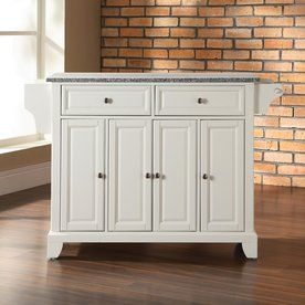 Crosley Furniture 52-in L x 18-in W x 36-in H White Kitchen Island
