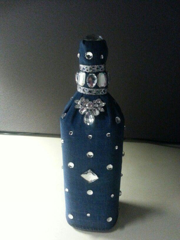 denim and diamonds centerpiece