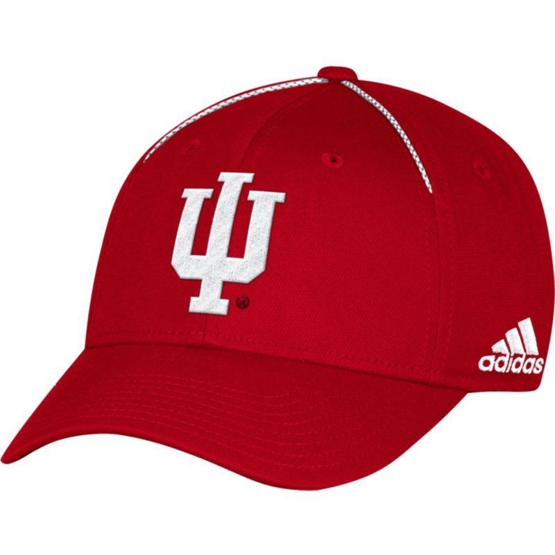 14e7b6c3277260 adidas Men's Indiana Hoosiers Crimson Sideline Coaches Structured Flex Hat,  Size: L/XL, Team