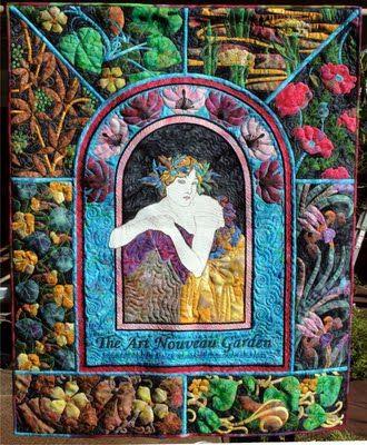 Fantastic art Nouveau quilt