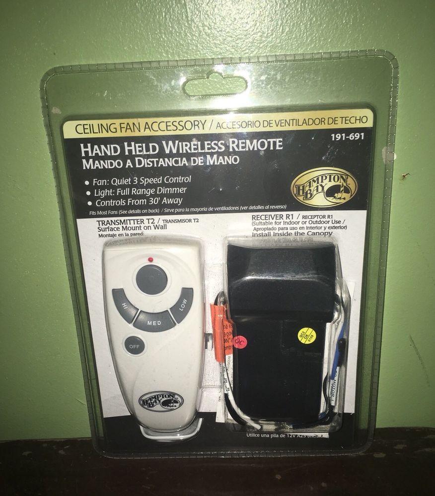 Hampton Bay Hand Held Wireless Remote Kit Ceiling Fan 191 691 New Sealed Hamptonbay Hold On Remote Ceiling Fan