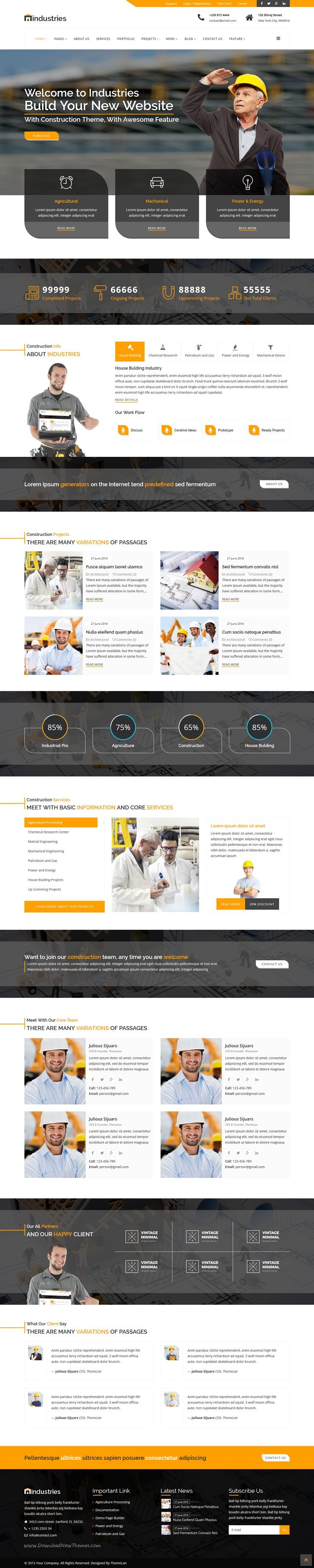 Industries is an clean coding premium Joomla template for