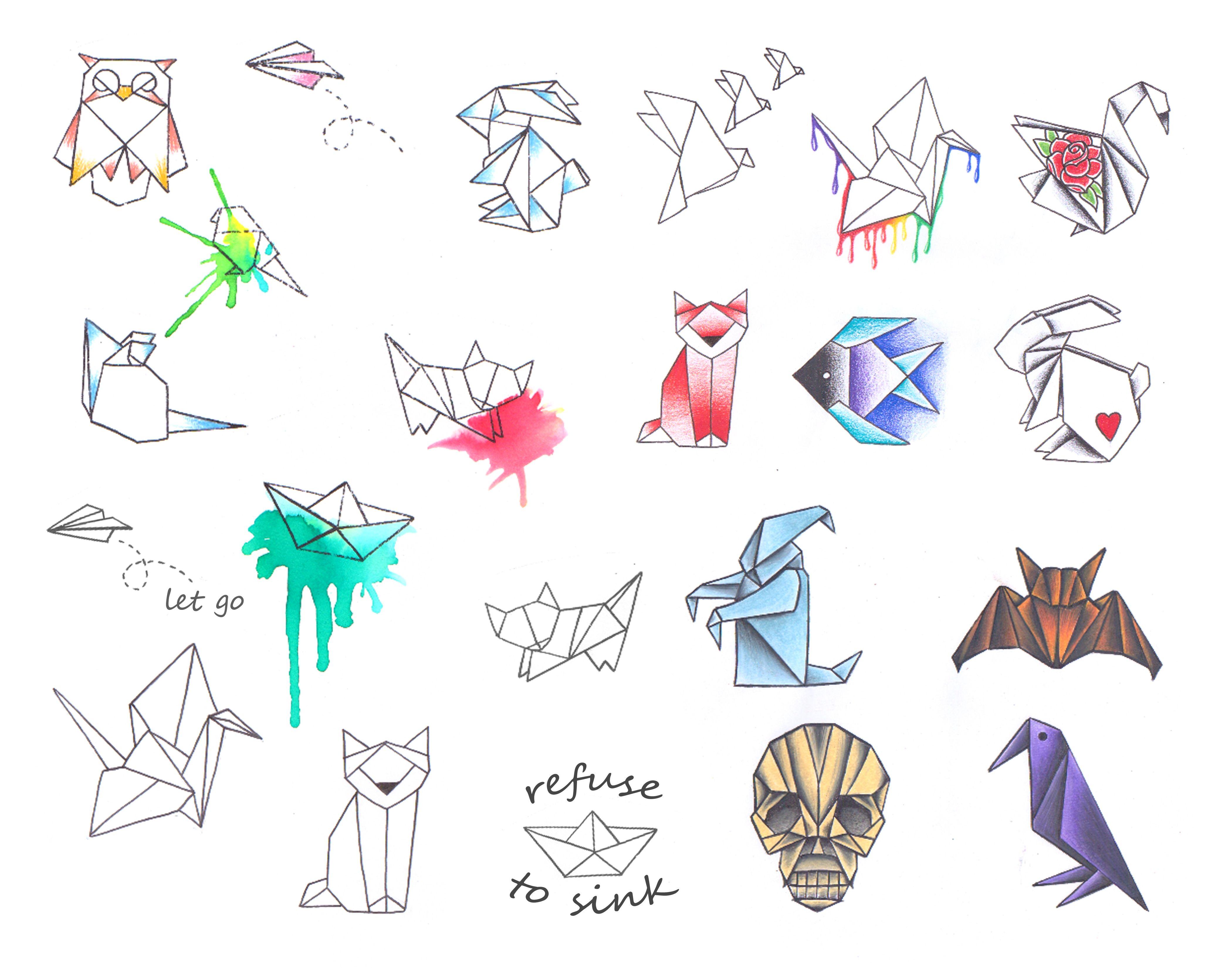 Origami animals. | Body Mods | Origami tattoo, Origami ... - photo#32