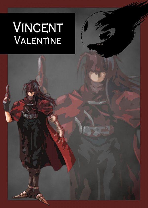 "Final Fantasy VII Characters Vincent Valentine #Displate explore Pinterest""> #Displate artwork by artist ""Gemini-Phoenix"".… | Displate thumbnail"