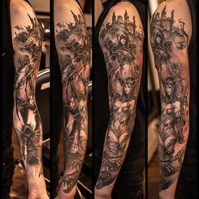 World Of Warcraft Tattoo Sle Tattoo Tattoos Gaming Tattoo