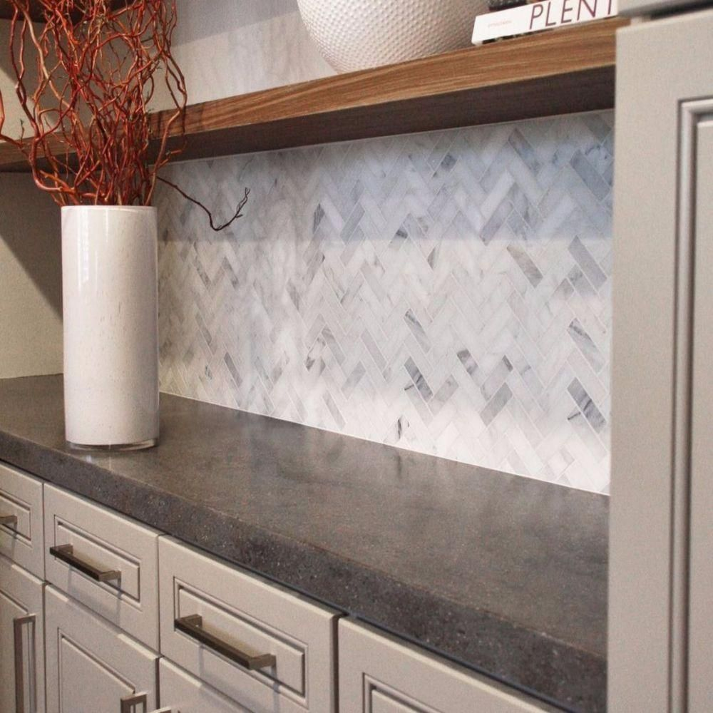 Splashback Tile Oriental Sculpture Herringbone 12 In X 12 In X 8 Mm Marble Mosaic Floor And W Marble Herringbone Tile Herringbone Tile Herringbone Backsplash