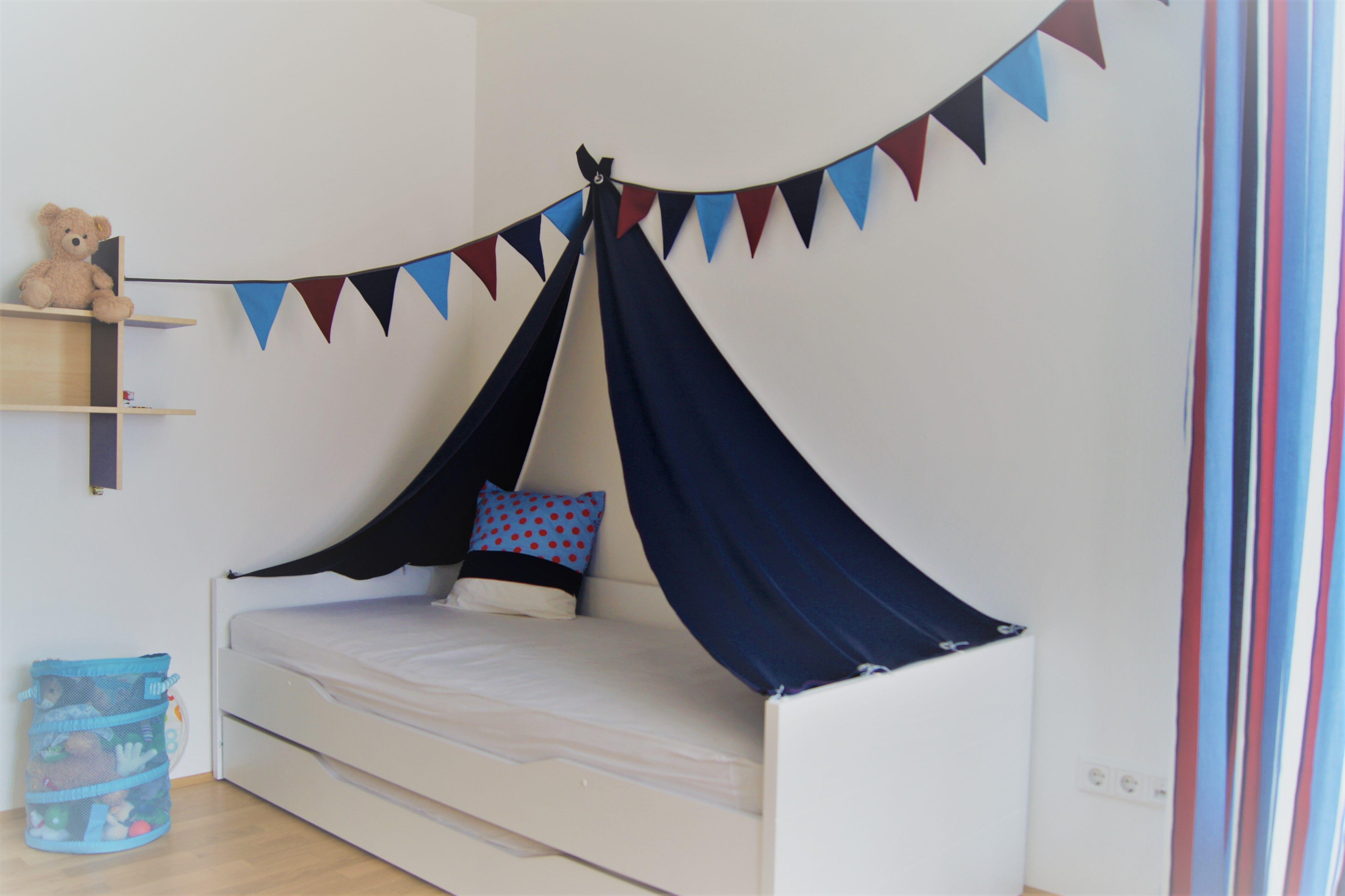 Kinderzimmer Bettzelt Mit Wimpelkette Kinder Zimmer Zelt