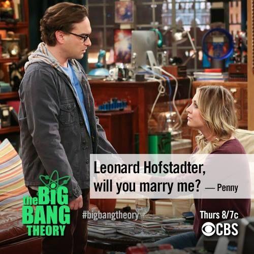 Penny Proposes Big Bang Theory Quotes Season 7 The Big Bang