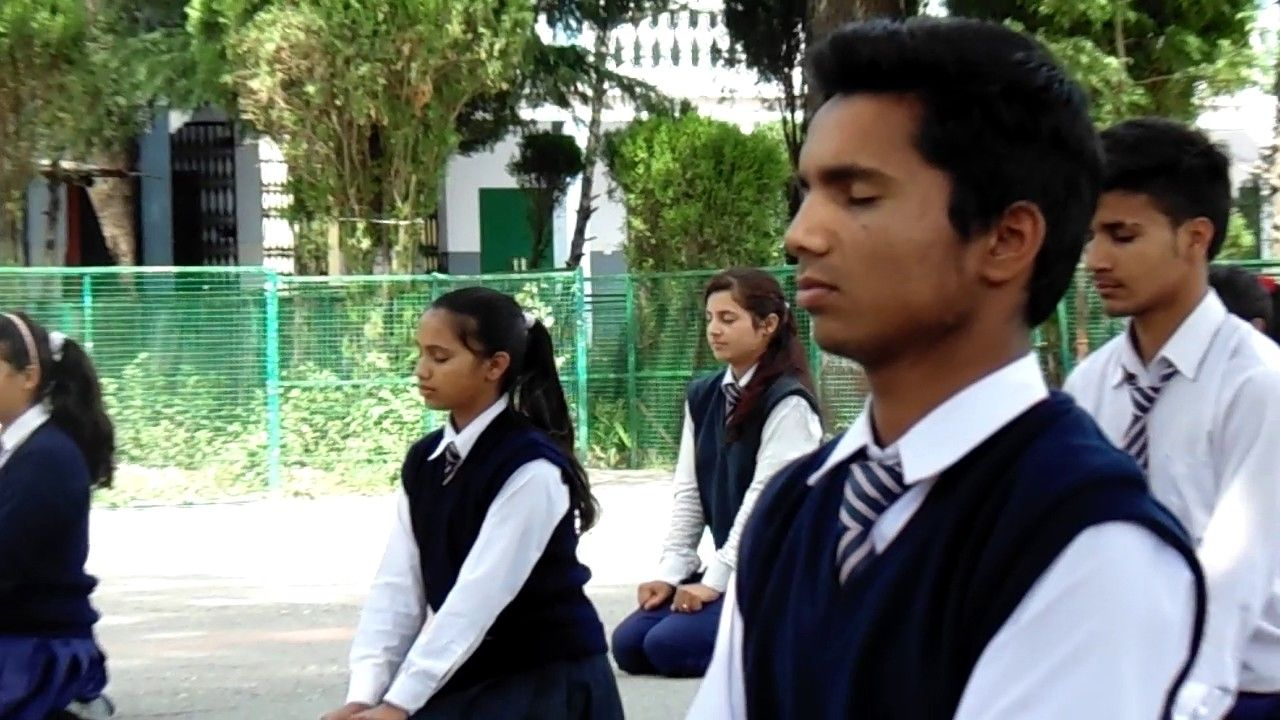 Students Practising Yoga is a daily feature