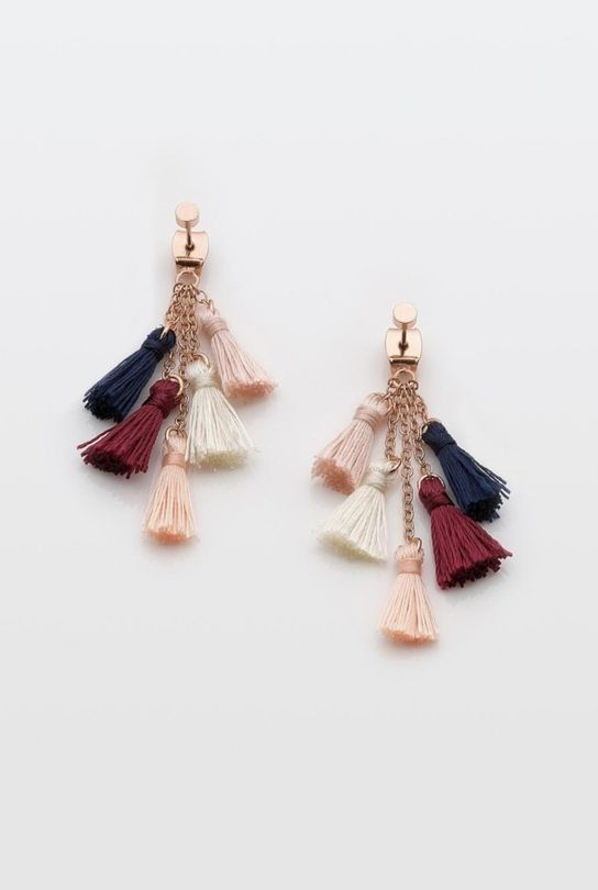 Much Too Much Rose Gold Tassel Earrings Rose 0zyZ0dI
