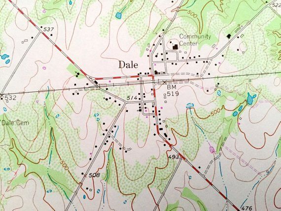 Antique Dale Texas 1964 US Geological Survey Topographic Map – St