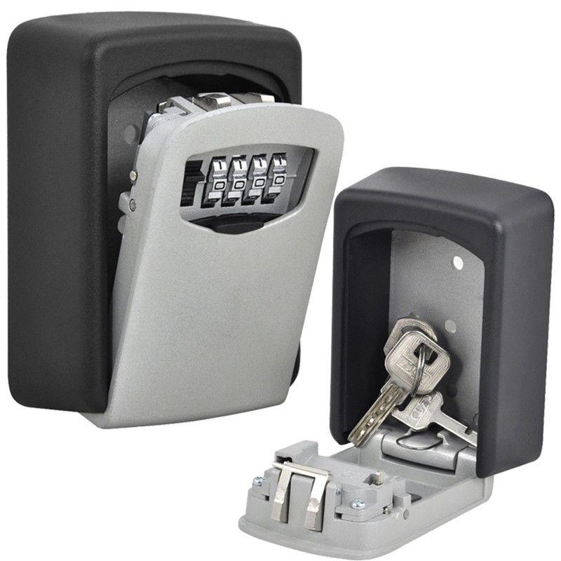 Wall Mount Key Storage Lock Box Holder 4 Digit Combination Key Storage Lockbox Key Storage Box