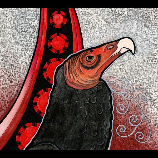 turkey vulture as totem by ravenari