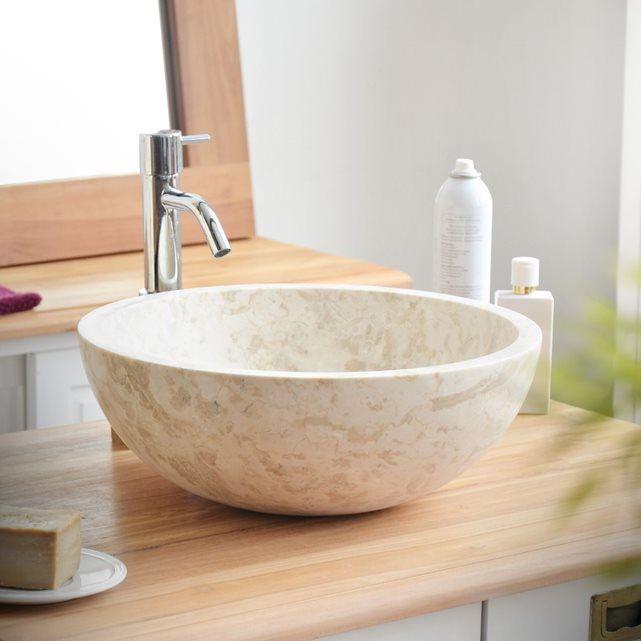 Vasque blanche en marbre Ibyza Cream