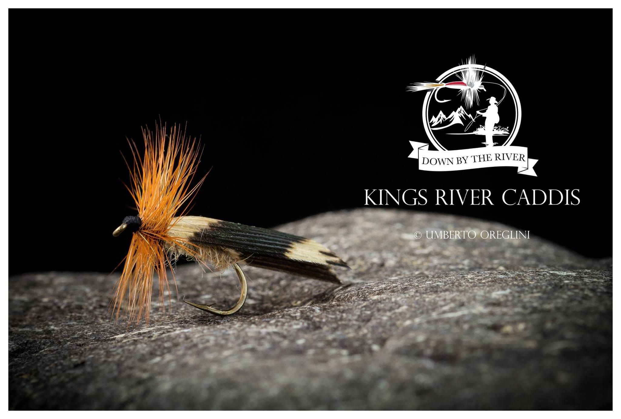 6 x King River Caddis Dry Fly Fishing Flies For Trout Salmon