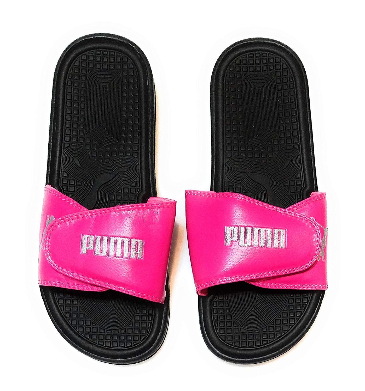 PUMA Women's Pop Cat Athletic Adjustable Slide Sandals
