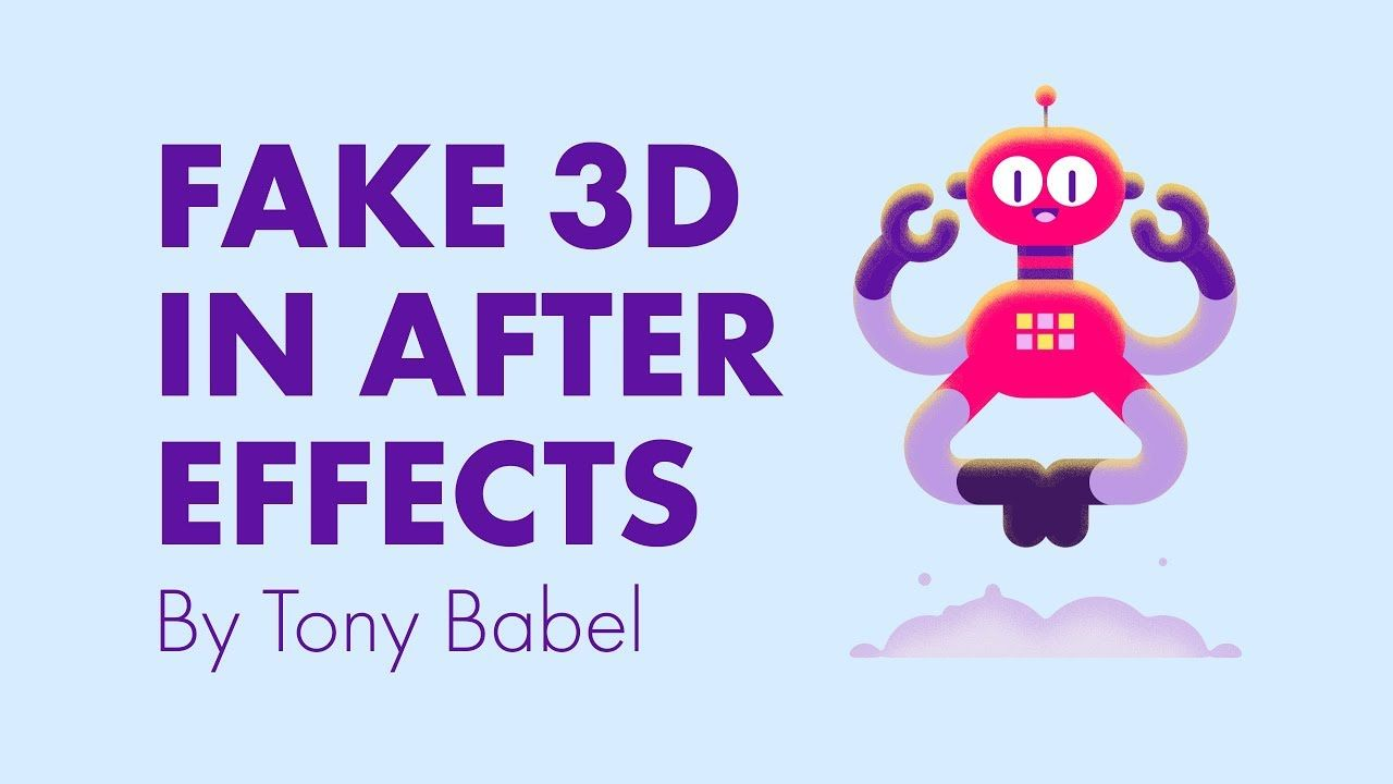 After Effects Tutorial Fake 3D with Shape Layers ae