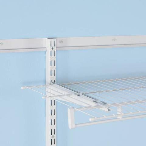 Rubbermaid Fasttrack White Shelving Bracket Common 0 7 In X 4 75 In X 16 In Actual 0 7 In X 4 75 In X 16 9 In Lowes Com Wire Shelving Shelf Brackets White Shelves