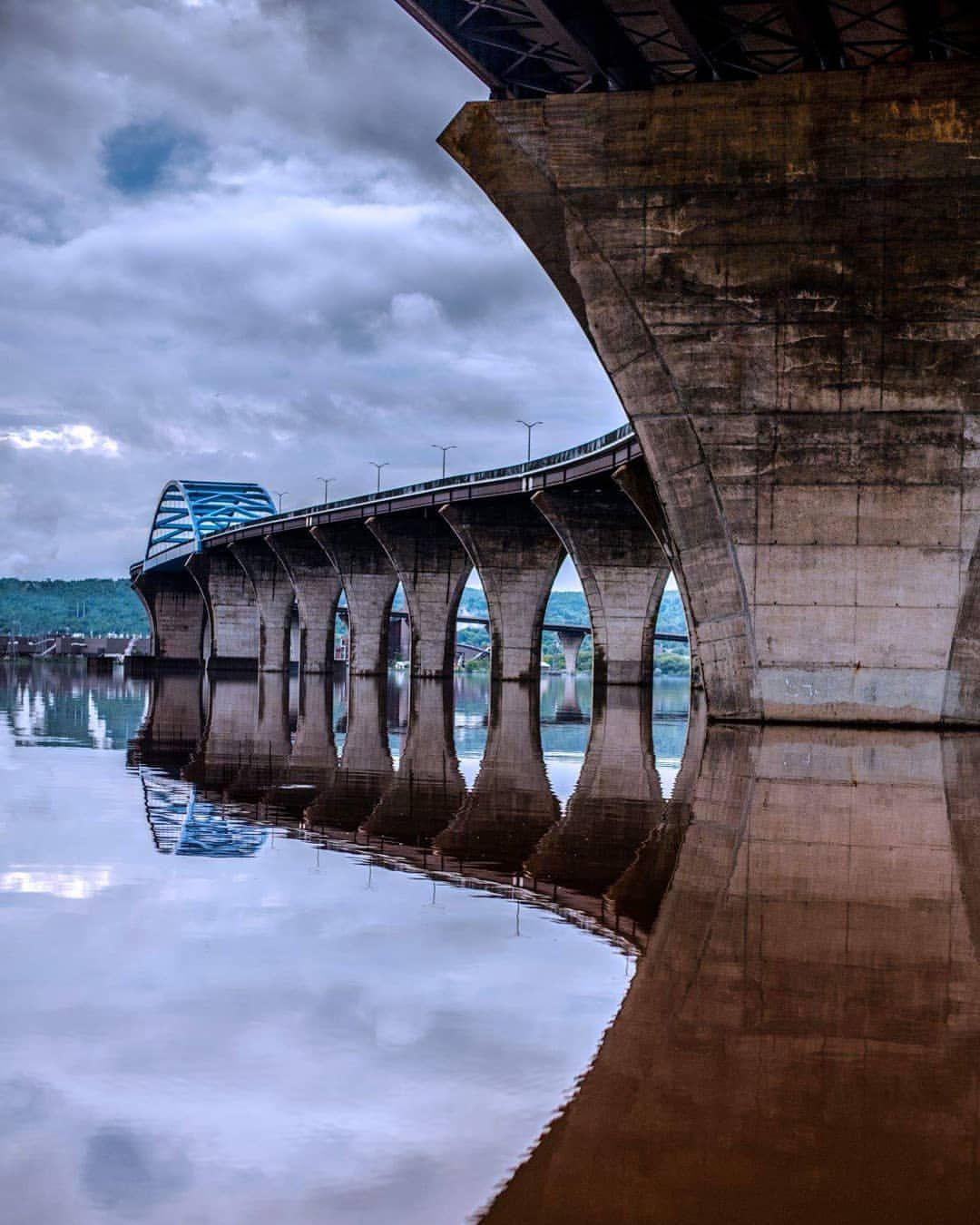 Richard Bong Bridge Superior Wi Side Duluth Minnesota