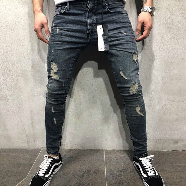 New Men Boy Fashion Denim Jeans Pants Skinny Stretchable Fit Blue /& Black Jeans