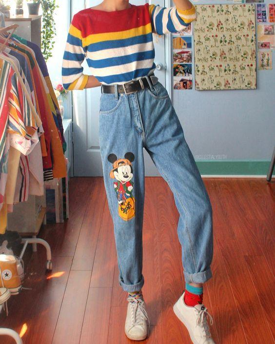 Düz Kesim Pantolon Kombinleri #90sgrunge