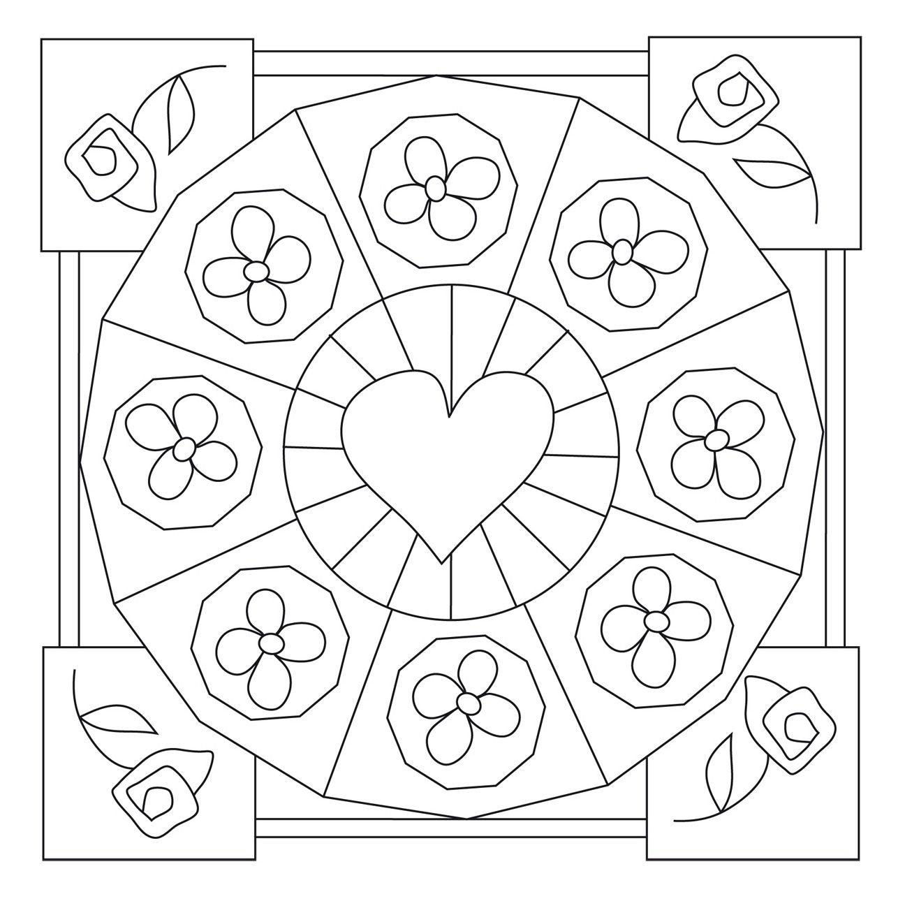Fichas para infantil: Mandalas primaverales