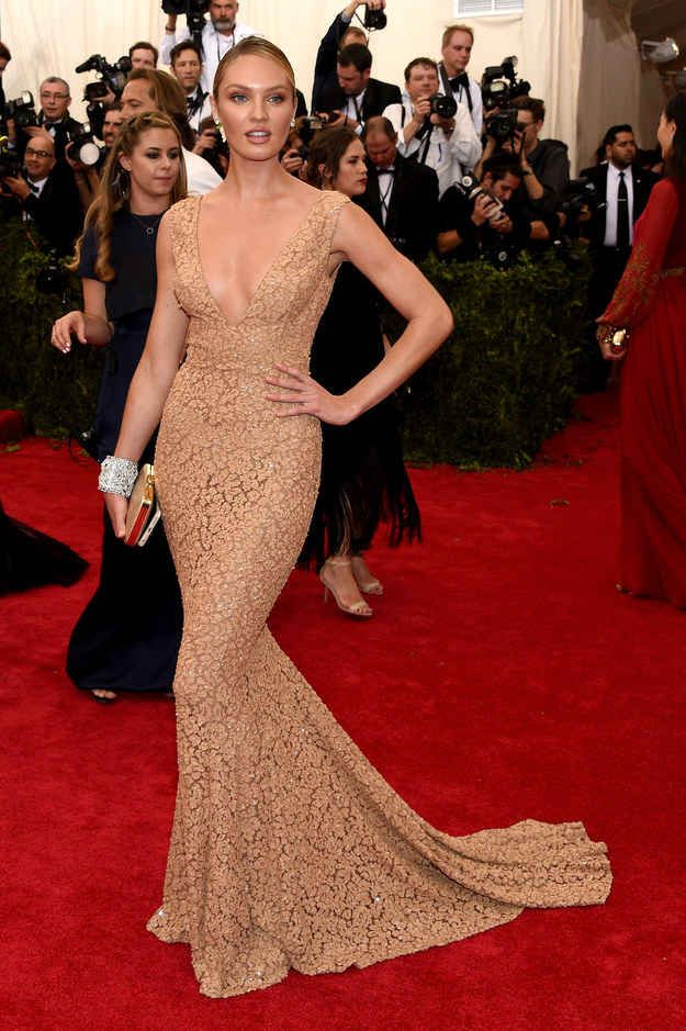 Here S What The Stars Wore To The 2015 Met Gala Met Gala Dresses Celebrity Dresses Lace Evening Dresses