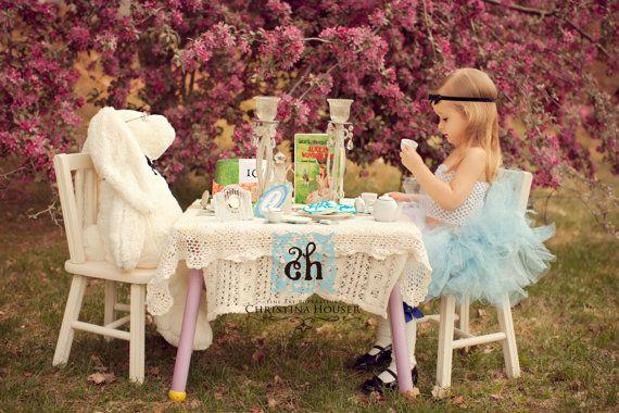 Custom Couture Alice in Wonderland Tutu/Cinderella Tutu/ Blue Tutu/ Disney Dress Up. $28.50, via Etsy.