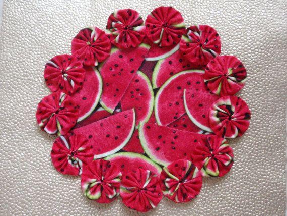 Watermelon Doily by SursyShop on Etsy, $8.00