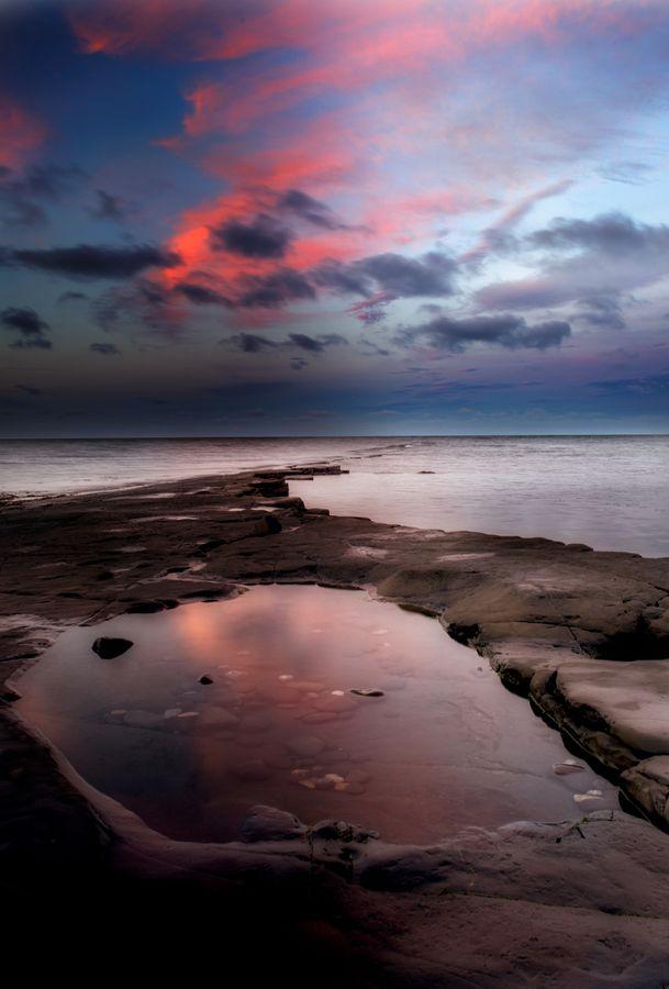 Kimmeridge Bay I landscape, sunrise, uk, landscapes, lowlight, long shutter, dorset, nd grad, kimmeridge bay