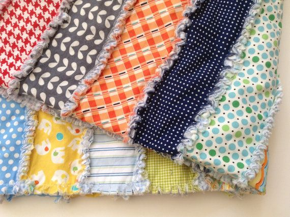 Baby boy/ toddler rag quilt by WildflowerSoup on Etsy, $65.00