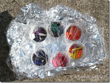 Upcycle crayons with a mini solar oven this summer!