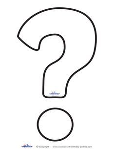 Printable Question Mark 1 Decoration Coolest Free