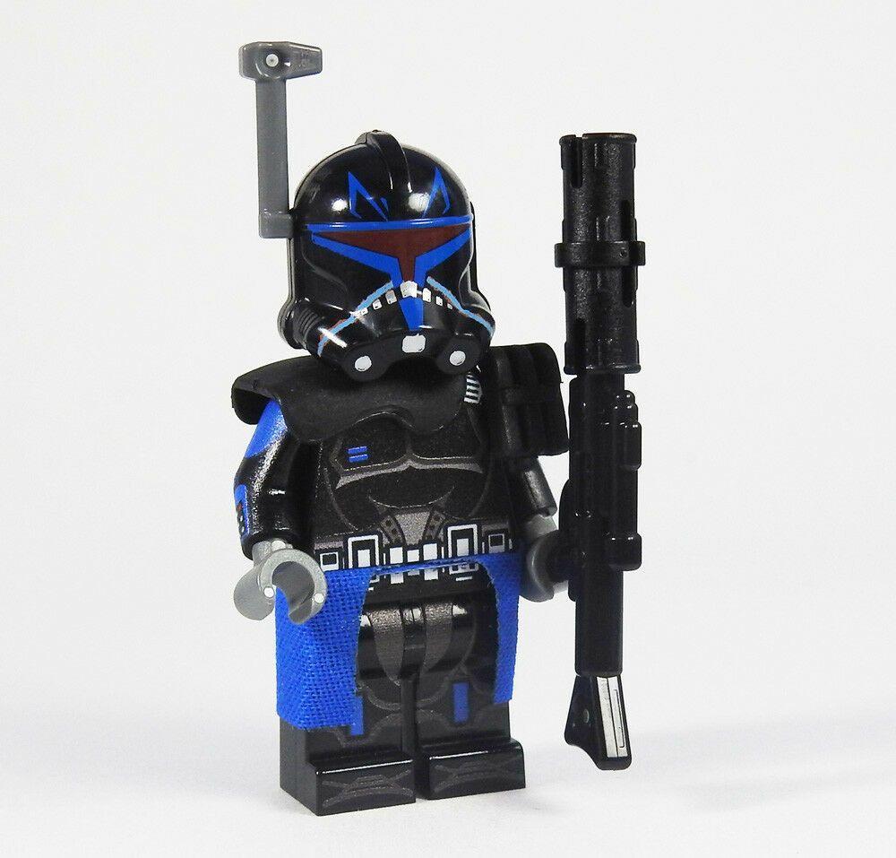 Star Wars minifigures captain clone trooper on lego bricks Sniper Rex Custom