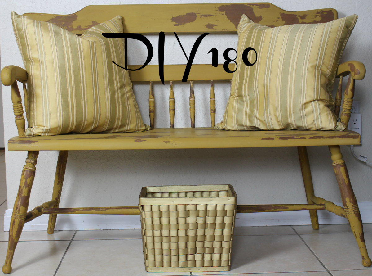 DIY180 Ethan Allen 1960 Bench Makeover Old Fashioned Milk Paint