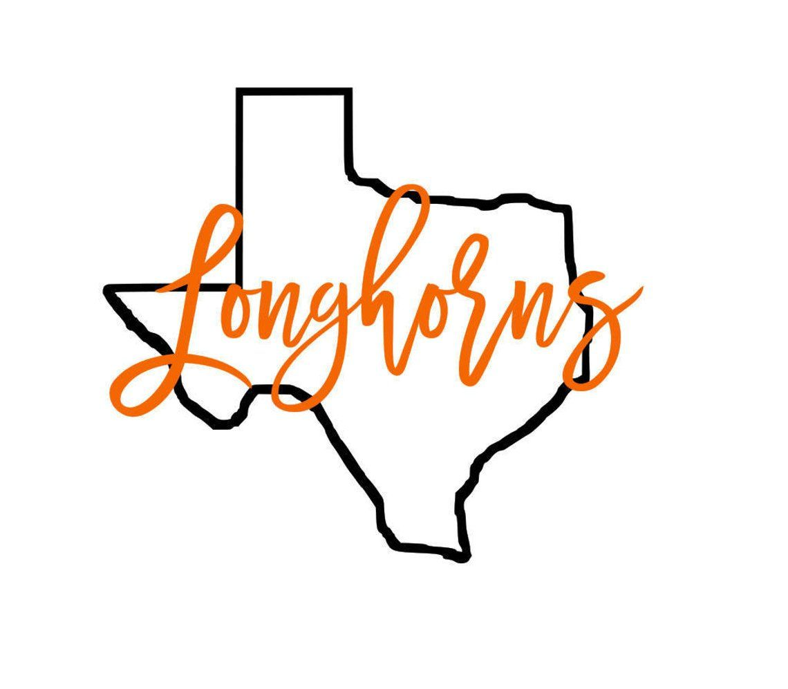 Texas Longhorns State Outline Svg Texas Longhorns Texas Longhorns Logo Texas Longhorns Football