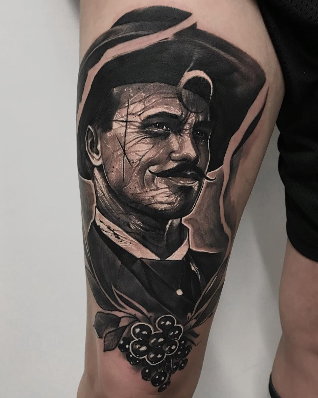 Doc Holliday Tattoo : holliday, tattoo, Huckleberry..., Holliday, ⭐️, Thankyou, Michelle, Traveling, 🇺🇸, Huckleberry, Tattoo,, Huckleberry,, Tattoos