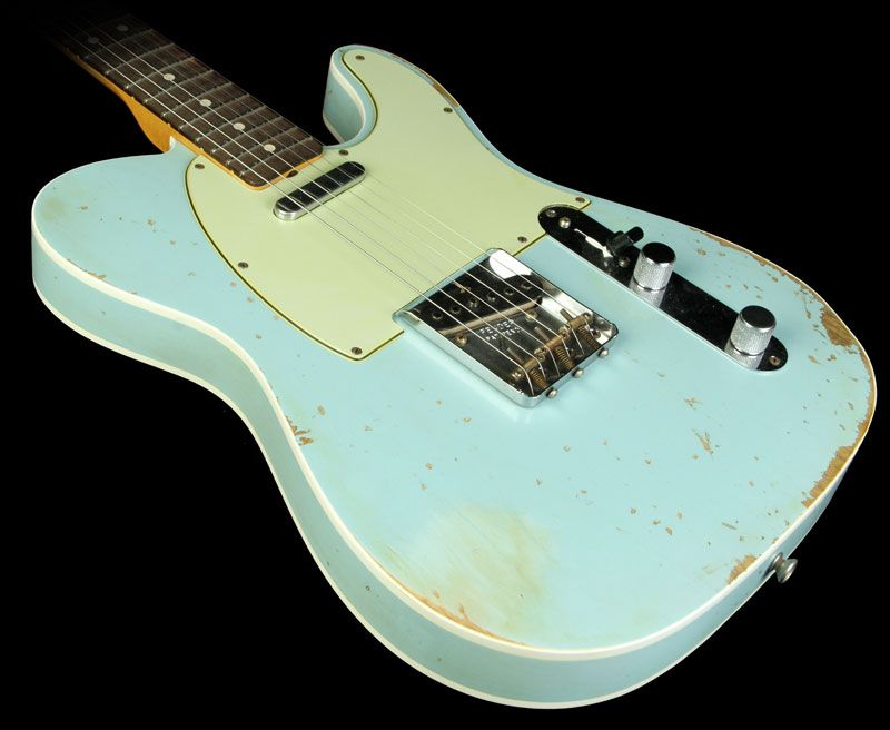 Fender Custom Shop Masterbuilt 63 Telecaster Heavy Relic Electric Guitar Sonic Blue