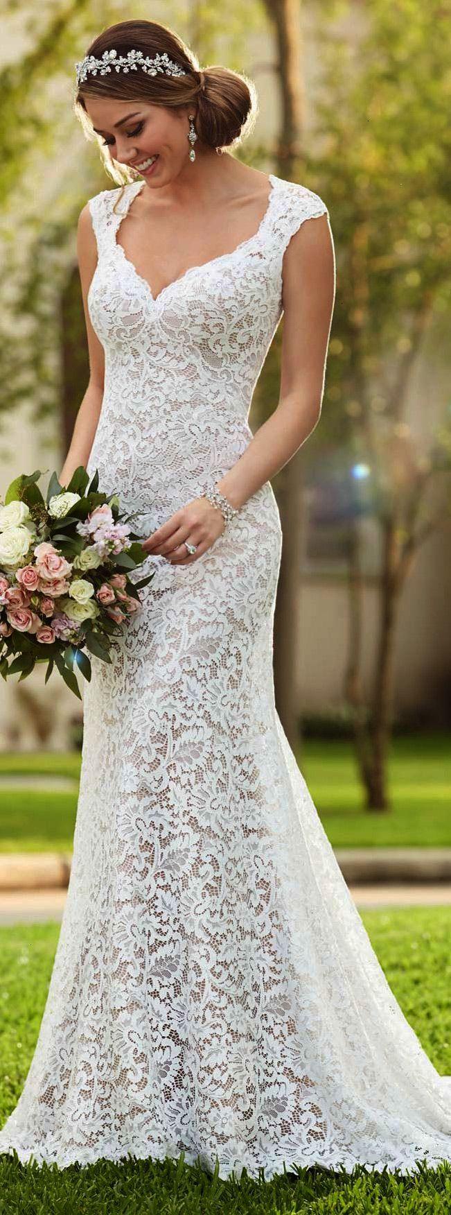 Stella york full lace wedding dress weddings pinterest lace