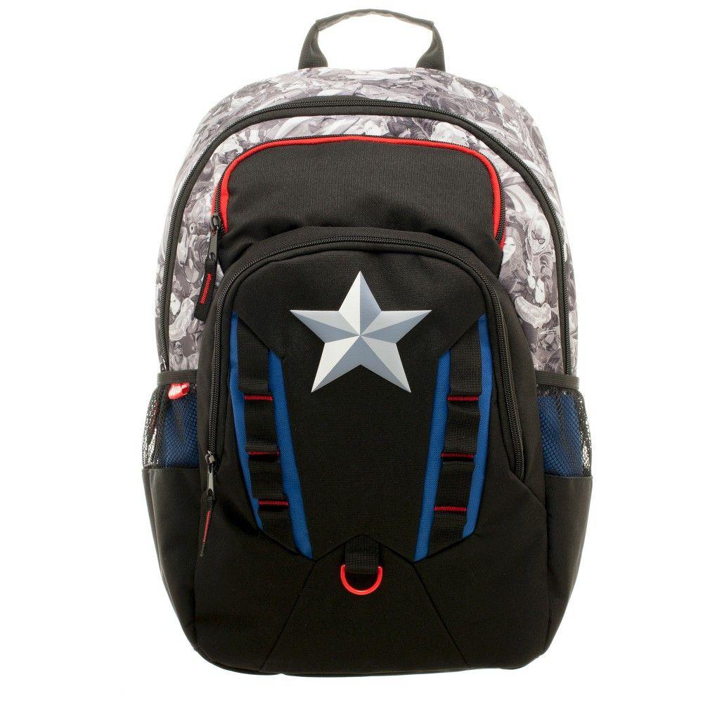 Marvel Captain America Commuter Backpack - Black 32bbee7c4c72f