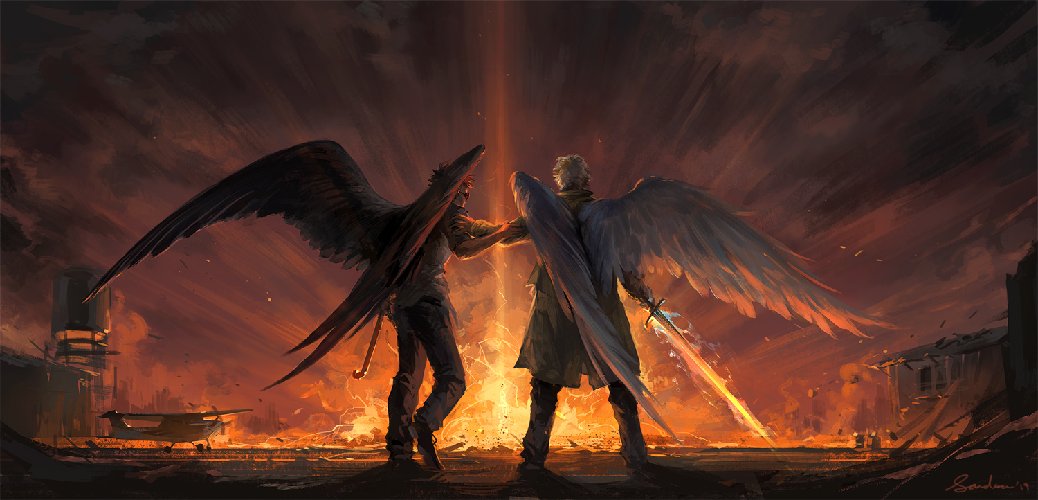 good omens wallpaper - Google Search | Good omens book, Cool ...