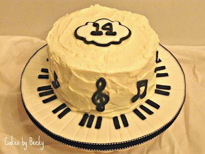 Music Birthday Cake Cakes by Me Pinterest Music birthday