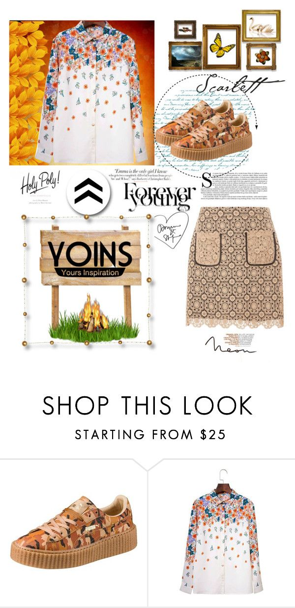 """""""Yoins"""" by moonlightsilhouette ❤ liked on Polyvore featuring Puma, Vanity Fair, Dorothy Perkins and yoins"""