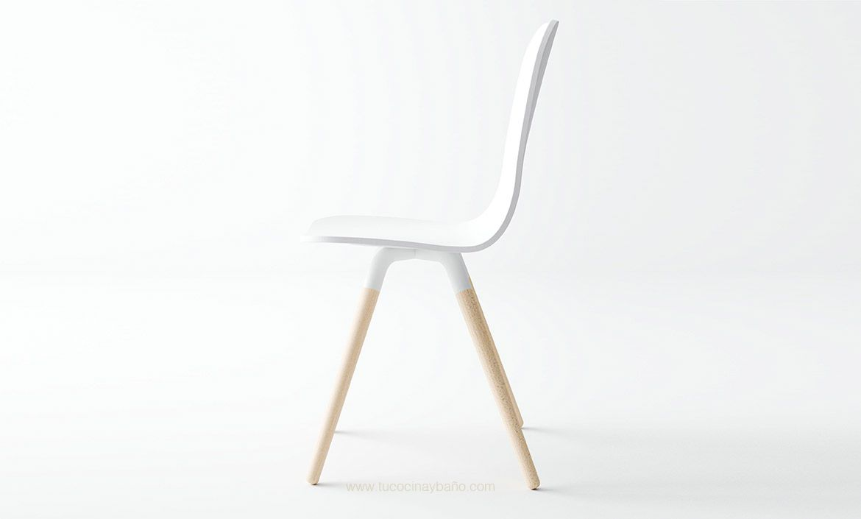 Silla cocina nórdica pata madera | tu Cocina y Baño | mesas sillas y ...